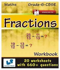 grade 6 cbse maths fractions workbook e books downloadable pdf buy grade 6 cbse maths