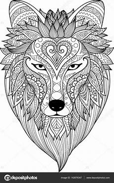 zendoodle stylize of dire wolf for t shirt design