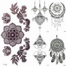 Mandala Klein - 3d black mandala flower henna temporary