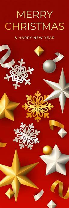 merry christmas vertical banner vector free download