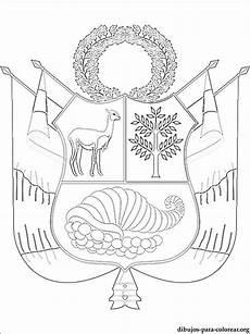 escudo del per 250 colorear dibujos colorear