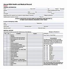 bsa medical form fillable pdf