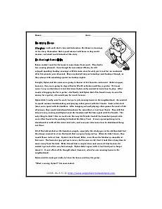 patterns of chapters or stanzas of text worksheets