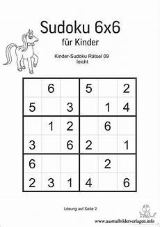 Kinder Malvorlagen Sudoku Sudoku Fur Kinder 6x6 Sudoku