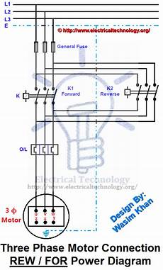 three phase motor connection electrical technology