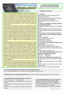 reading comprehension worksheets 11th grade printable worksheets word lists and activities