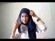 Tutorial Jilbab Segiempat Simple Blue By Vini