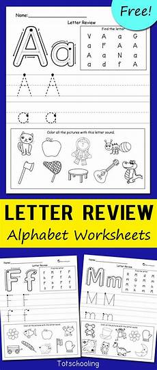 kindergarten letter a worksheets 23374 letter review alphabet worksheets preschool letters