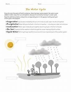 water cycle matching worksheet education com
