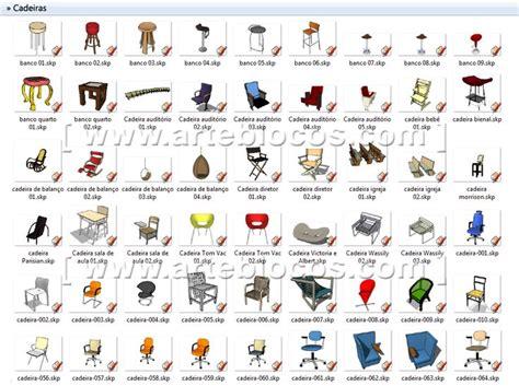 Amostra De Blocos Sketchup De Cadeira, Poltrona, Divã