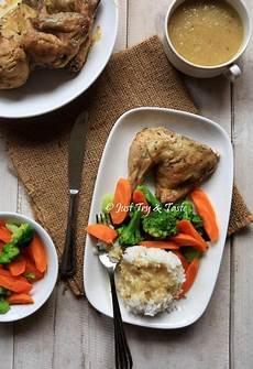 Resep Ayam Panggang Utuh Dengan Gravy Dengan Gambar