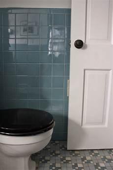 meet me in philadelphia pre holiday spruce up the vintage blue tile bathroom