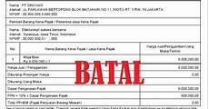 contoh surat pembatalan faktur pajak ke kpp dapatkan contoh