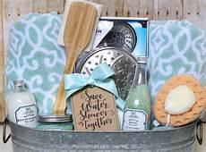 Bathroom Gift Ideas Shower Themed Diy Wedding Gift Basket Idea The Craft Patch