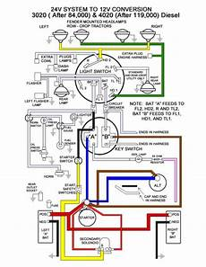 Wiring Diagram Deere 4020 Tractor by Deere 4020 24v To 12v Conversion Wiring Diagram 52