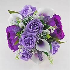brides purple peony calla rose lilly of the valley wedding bo budget wedding flowers