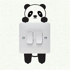 panda wall plate light switch wall sticker vinyl decal mural home decoration