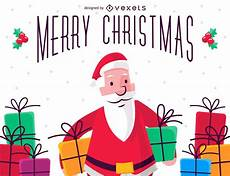 merry christmas illustration with santa claus vector download