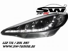 sw drl headlights peugeot 207 06 09 led daytime running