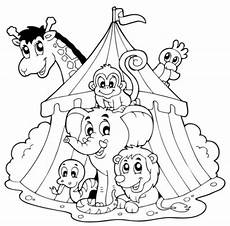 Malvorlagen Zirkus Zirkuszelt Zirkus Bilder F 252 R Kinder Zum Ausdrucken Free