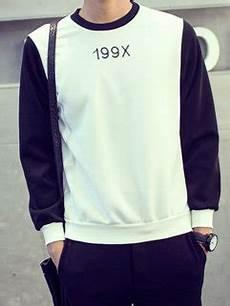 2015 hk style men hoodies active black letter printed