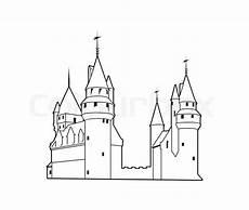 castle silhouette stock vector colourbox