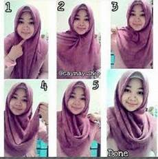 Tutorial Pesta Segi Empat Satin Simple Jilbab Gucci