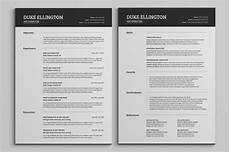 two pages classic resume cv template by snipescientist creativemarket cv template sle