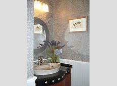 Modern Elegant Powder Room, Bead Board Panelling, Custom