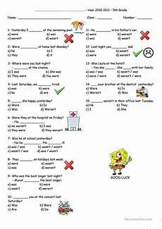 quiz was or were worksheet free esl printable worksheets made by teachers