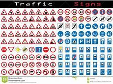 Verkehrszeichen Und Ihre Bedeutung - traffic sign collection stock vector illustration of