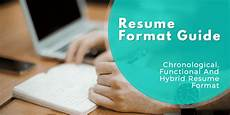resume format guide chronological functional and combo