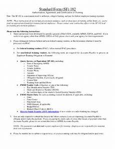 fillable online aphis usda standard form sf 182 aphis