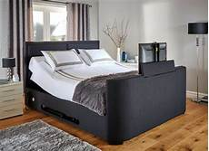 King Size Tv Bed With Lg Smart Tv Truscott Midnight Blue