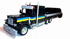 lego technic american truck with bottom dump trailer