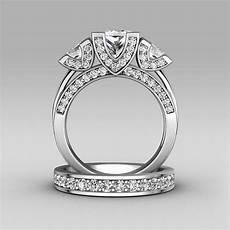 aliexpress com buy choucong princess cut three stone 8ct