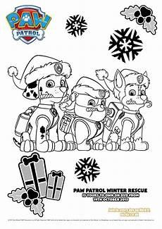 paw patrol ausmalbilder winter rescue paw patrol