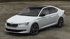 next skoda octavia with a sharper design rendered