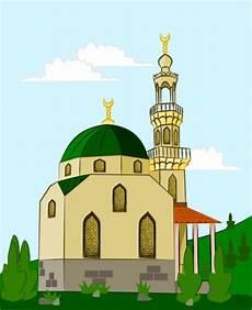 21 Gambar Kartun Masjid Cantik Dan Lucu Terbaru