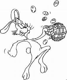 osterhase mit nest ausmalbild malvorlage comics