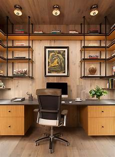 Modern Home Office - apartment interior uses a mondrian inspired wall design to