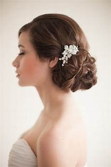 low side bun for brides folder