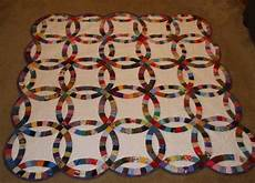 double wedding ring charm quilt