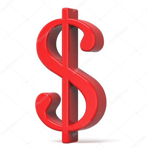 Dollar Sign Red