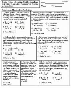 solve systems of equations given word problems mrs math by mrs math