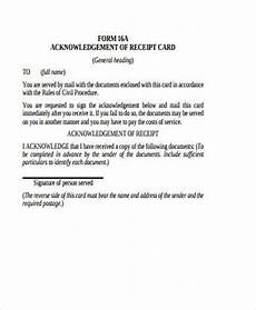 acknowledgement receipt of documents template acknowledgement receipt sle 18 exles in word pdf