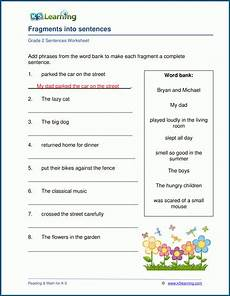 writing sentence worksheet for grade 2 22268 grade 2 sentences worksheets k5 learning