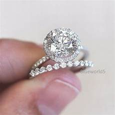 details about 2 36ct off white moissanite engagement bridal ring 925 sterling silver