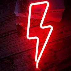 led lightning shape neon sign light art decorative lights wall decor for baby room christmas