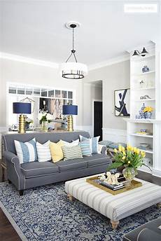 Home Tour With Vibrant Yellows And Pretty Blues